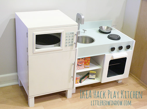 10 Make a play kitchen from Ikea nightstands 1 via simphome