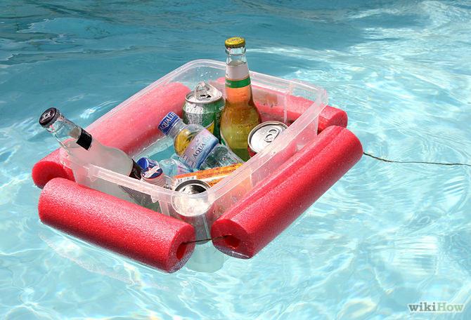 9 Pool Noodle Beverage Float via simphome