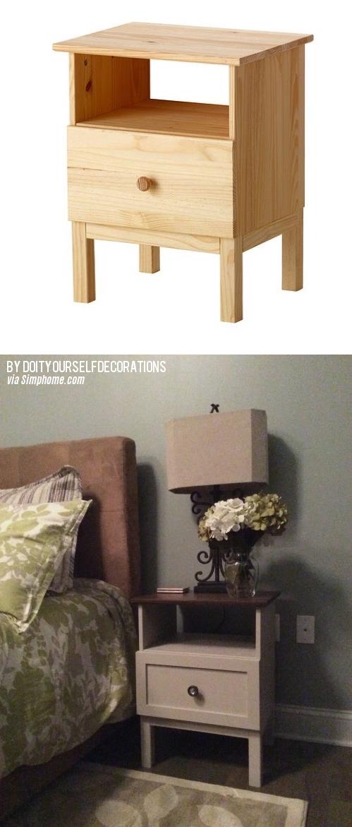 10 Tarva Nightstand IKEA Hack via Simphome