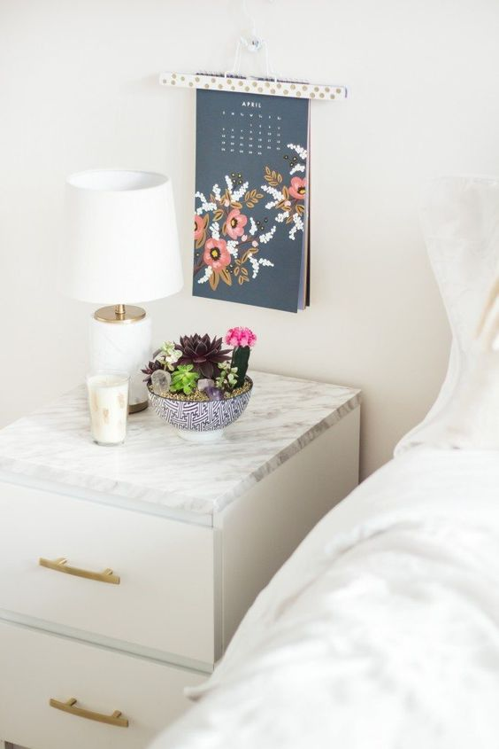 17 Ikea Malm End Table DIY via simphome