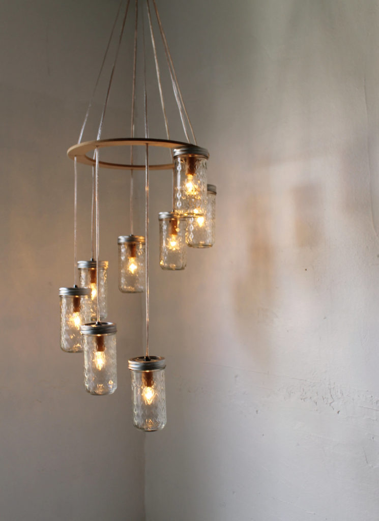 2 Mason jar light fixture via simphome 2