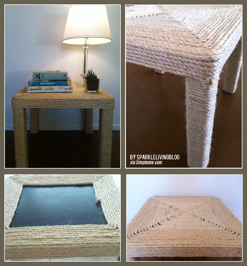 27 IKEA side table to Sisal Rope Table via simphome