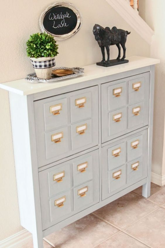 27 Turn a Hemnes shoe cabinet to a new faux library catalog Simphome com