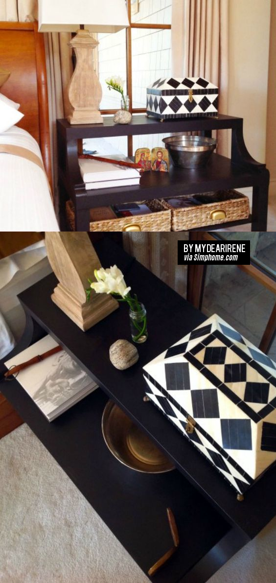 29 Ikea Lack Hack – From Coffee Table To The Perfect Bedside Table via simphome