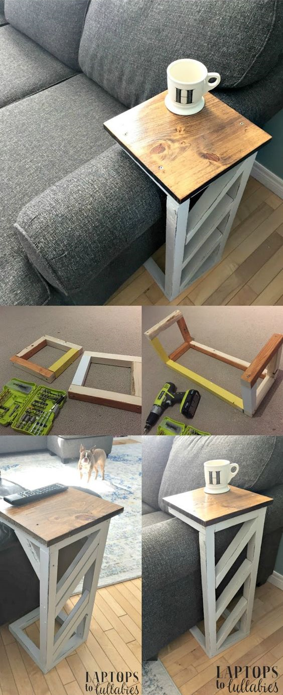 30 Easy DIY sofa tables via simphome