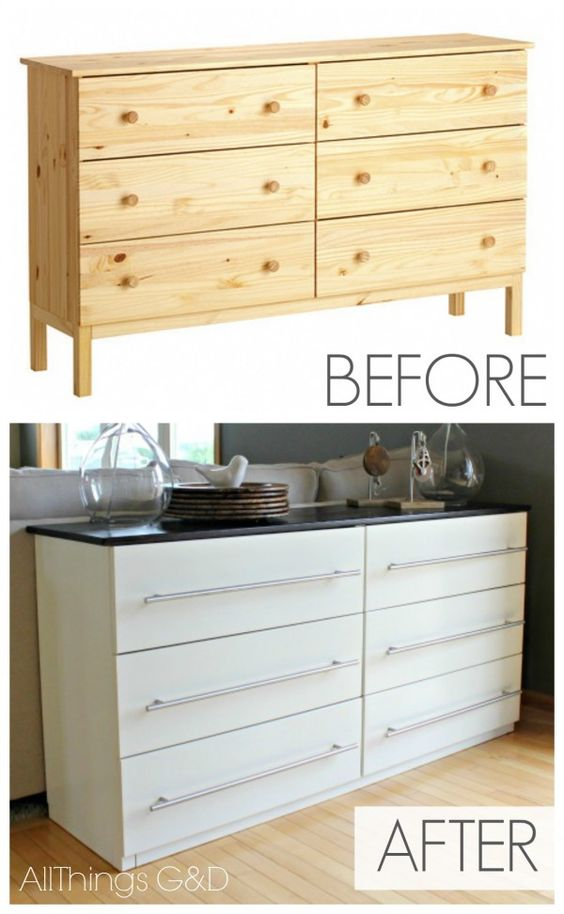 33 Transform a Tarva dresser to a new kitchen sideboard Simphome
