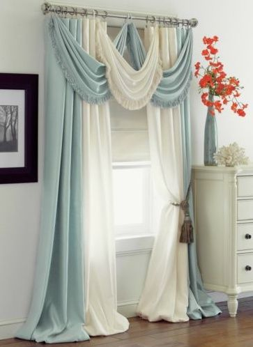 house with beautiful curtain