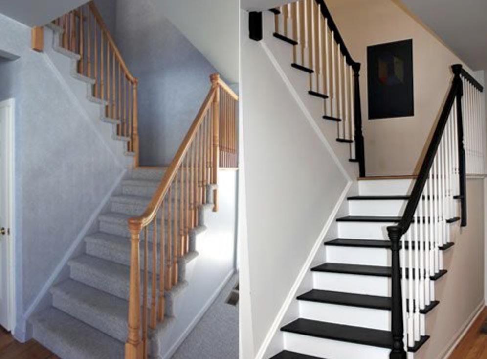 retouch the stair riser