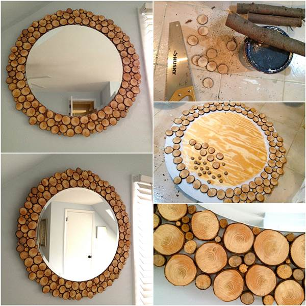 wood slide mirror frame