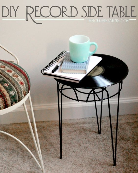 7 Beautiful DIY record side table via simphome