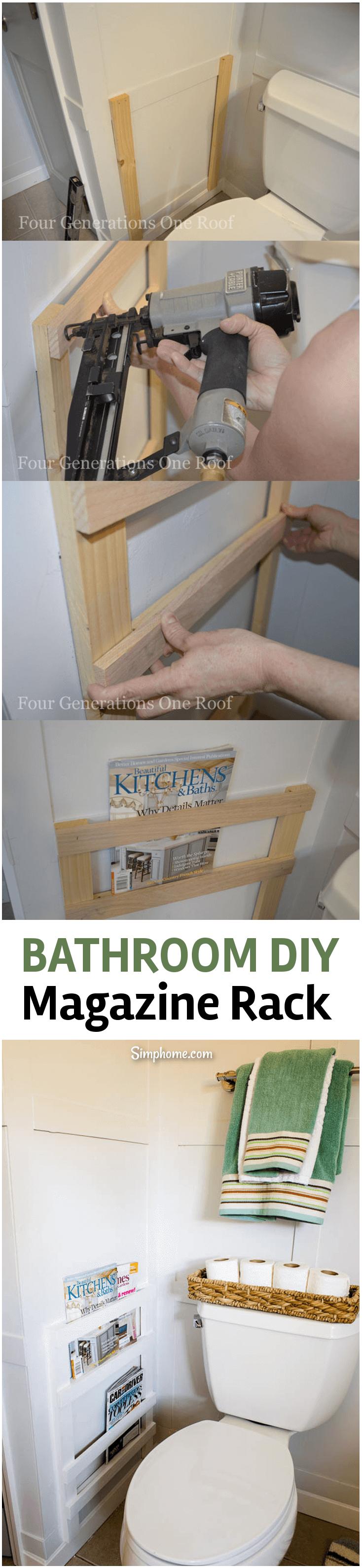 Bathroom DIY Magazine Rack 5 simphome com p