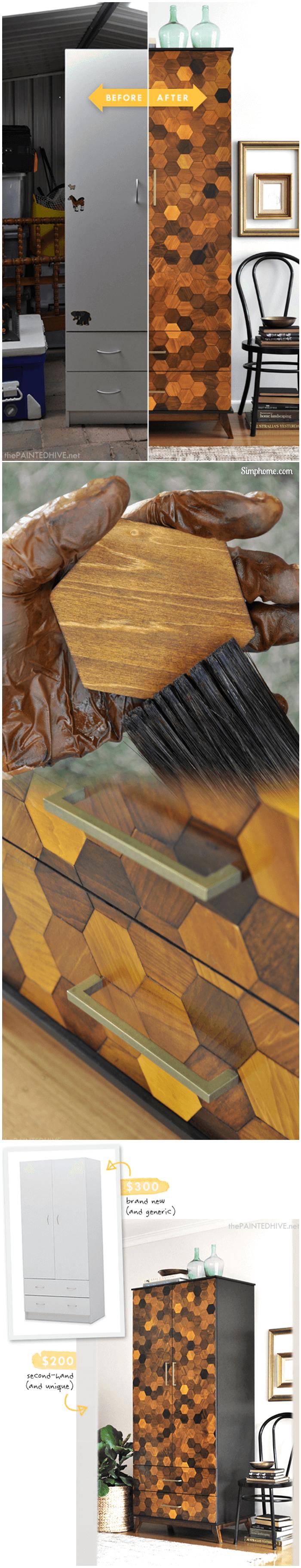 Beautiful DIY Honeycomb Armoire 16 Simphome com p