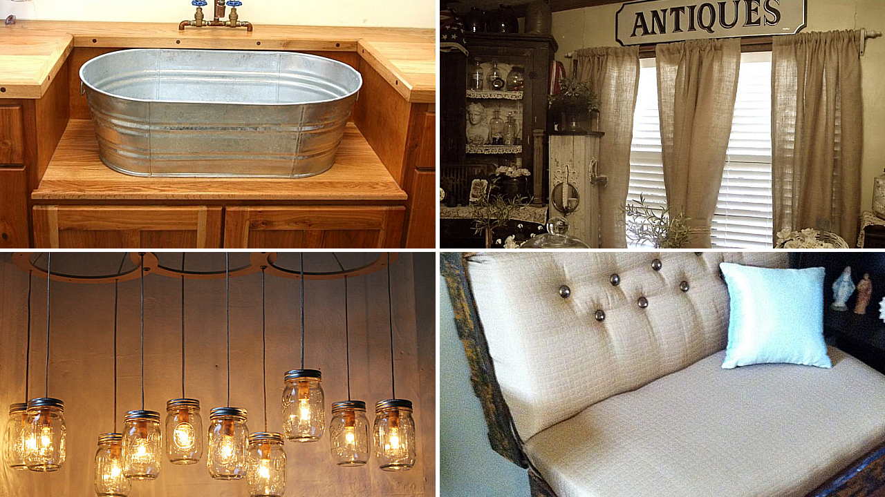 Cheap Primitive Home Décor Ideas Using Old Items via simphome featured