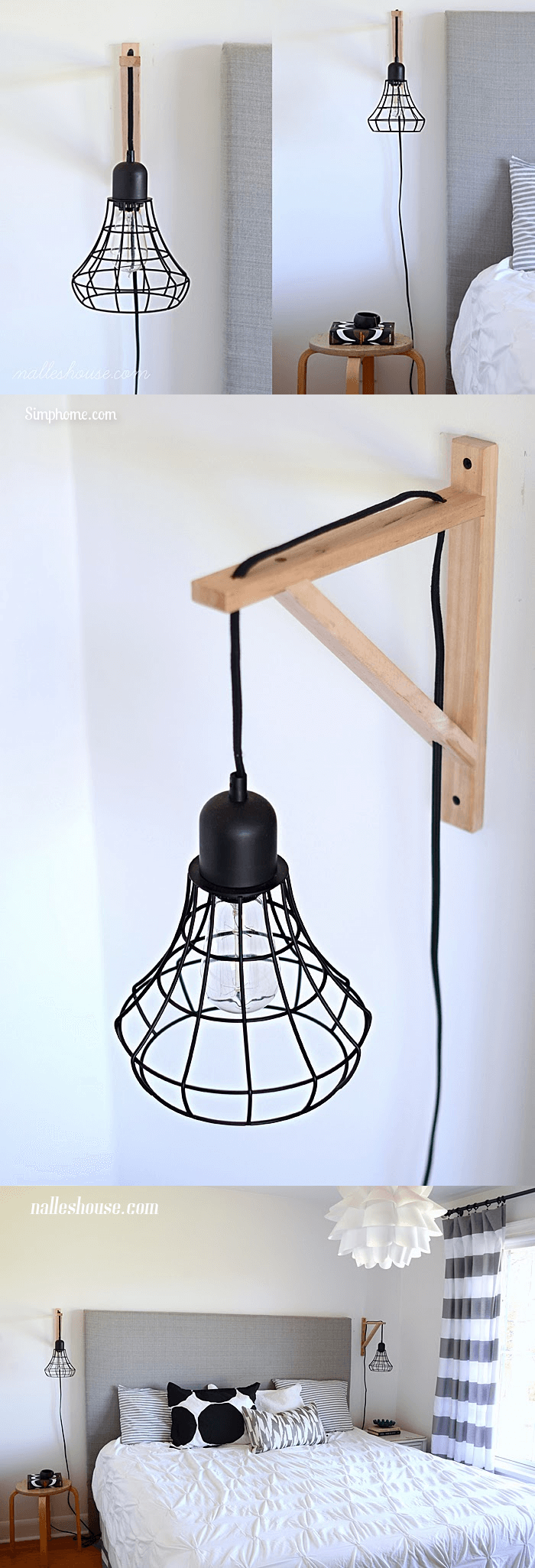DIY Cage Light Sconces 14 Simphome com p