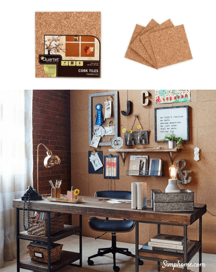 DIY Corkboard Office wall 8 Simphome com p