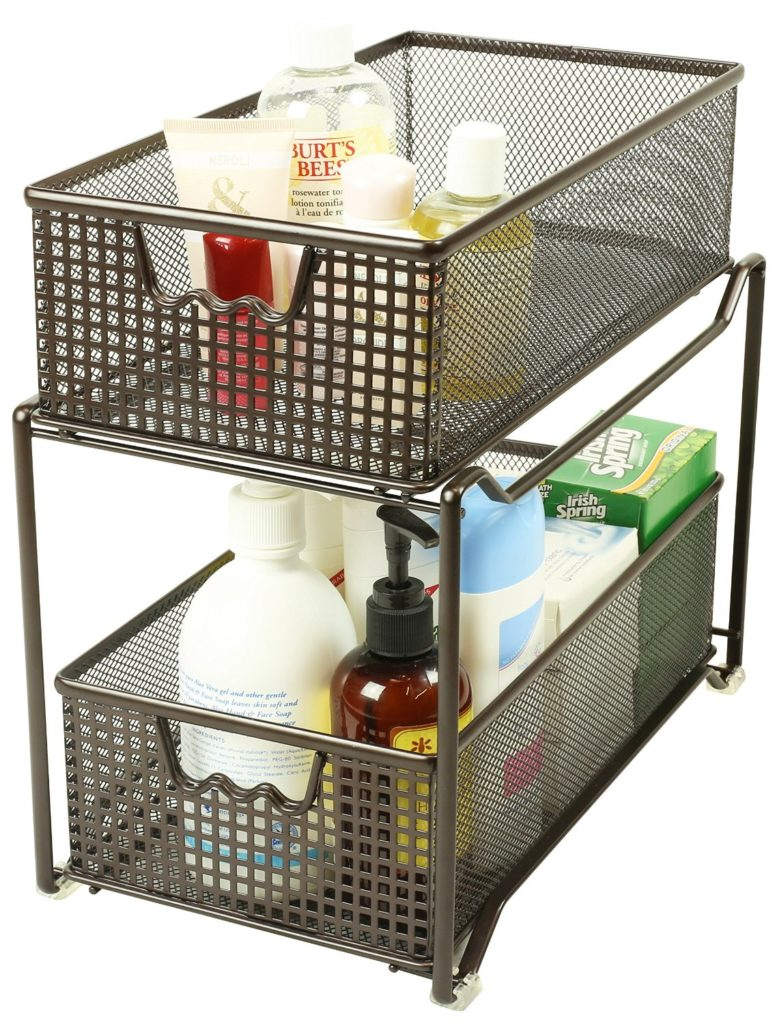 DecoBros Two Tier Mesh Sliding Cabinet via simphome