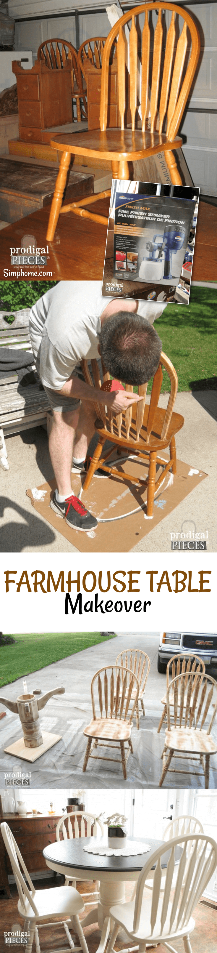Farmhouse Table Makeover with HomeRight Sprayer 4 simphome com p