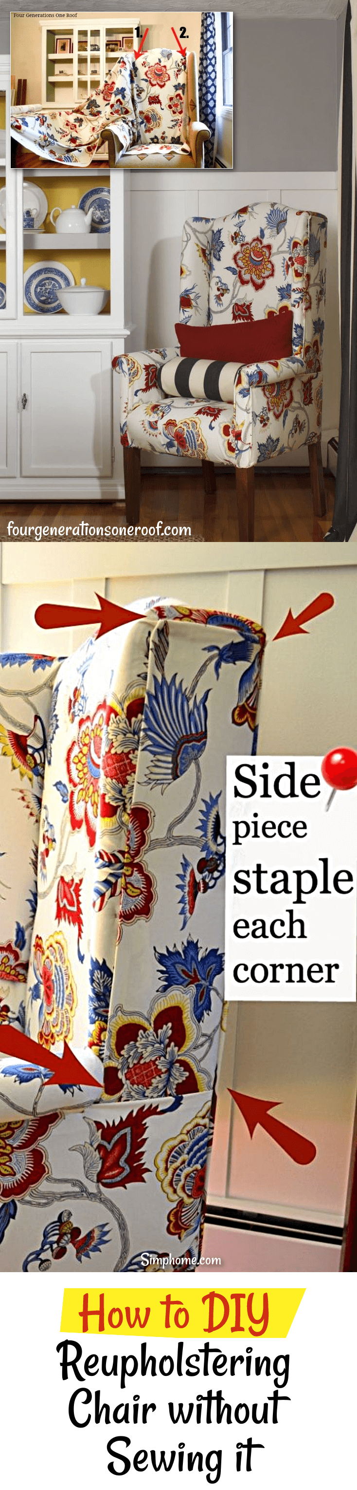 How to DIY Reupholstering Chair without Sewing it 7 simphome com p