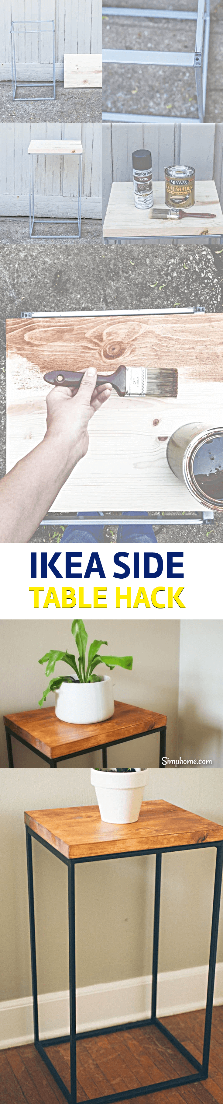 Making a Side Table ikea hack 6 simphome com p