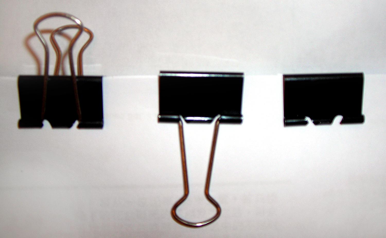 Three binder clips Simphome com
