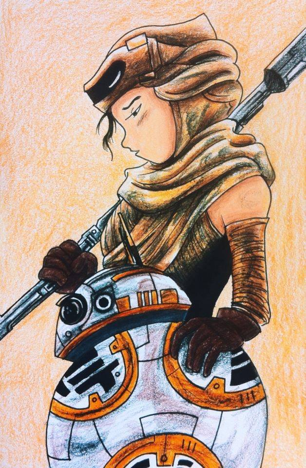 rey bb8 by sunnyjz star wars poster 2 Simphome