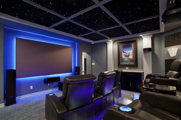 simphome high tech theater room