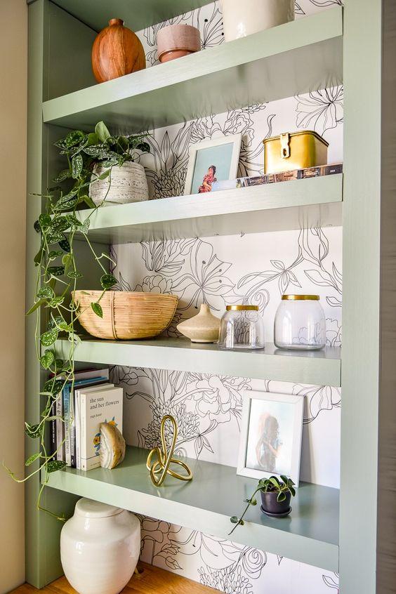 simphome wallpaper the shelf