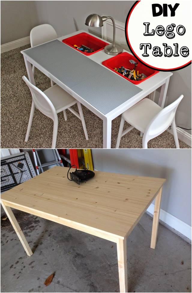 12 Transform an IKEA Table into a Lego Table simphome com