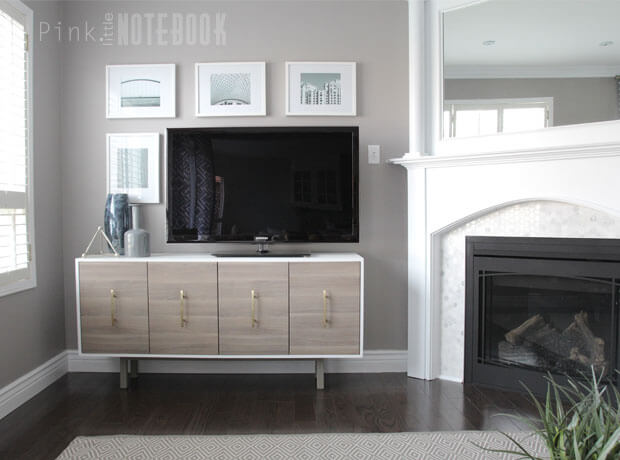 17 IKEA SEKTION Hack TV Console featured at www simphome com