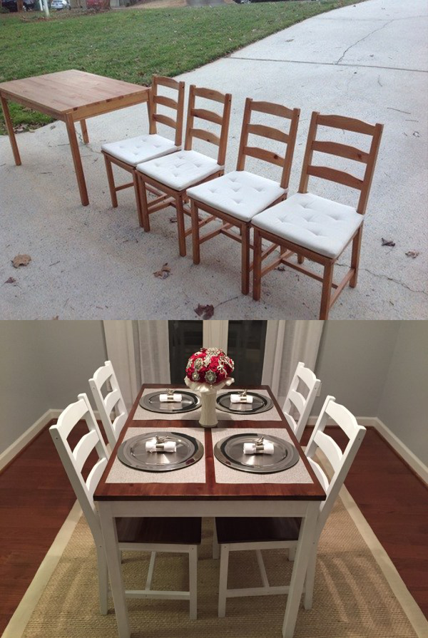 19 IKEA Dining Room Table Makeover by the craftcrib 600x895 simphome com
