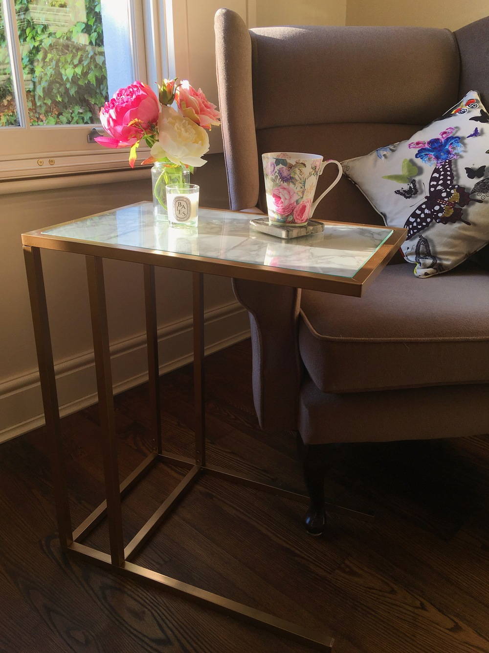 20 Gold and Marble Side Table With an Easy IKEA Hack simphome com