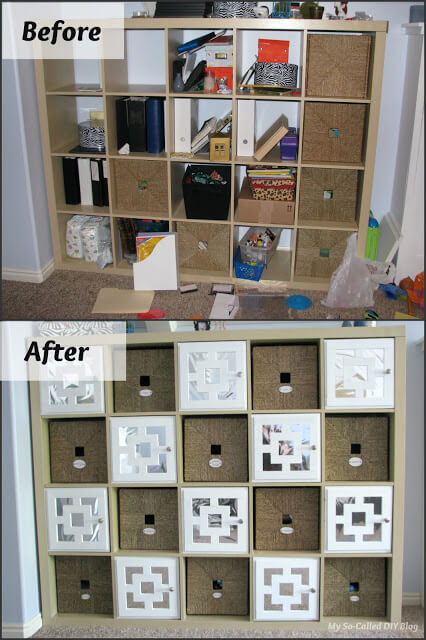 22 DIY Doors for IKEA Expedit Cubby Shelf featured at www simphome com