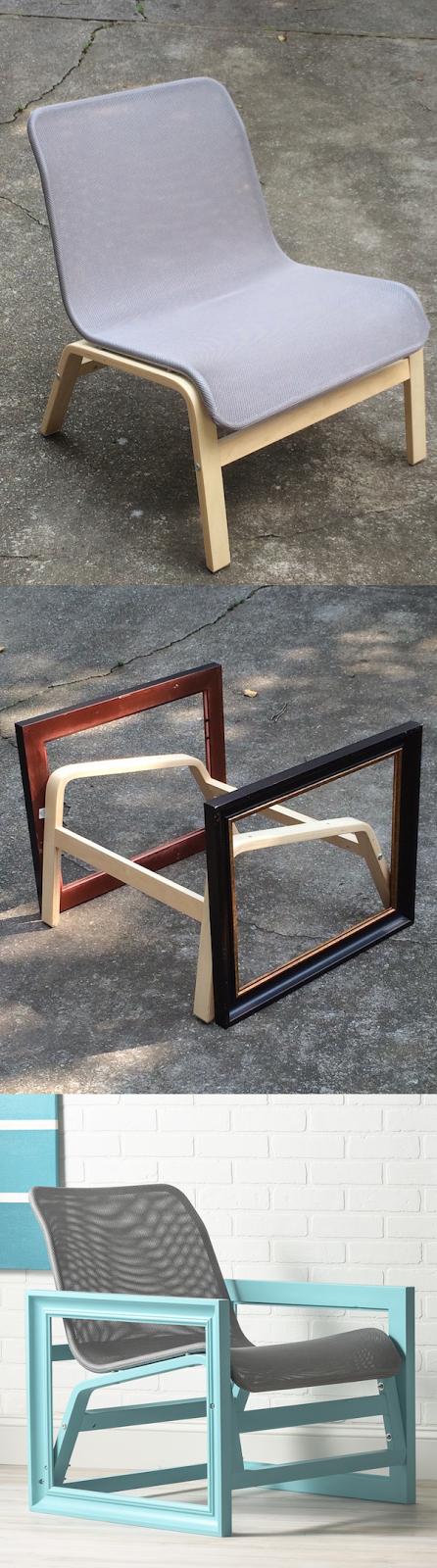 24 IKEA HACK Photo Frame Chair 600x2154 simphome com