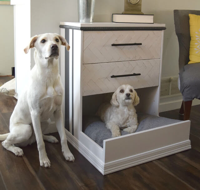 24 IKEA Rast dresser hack dresser into dog bed featured at www simphome com