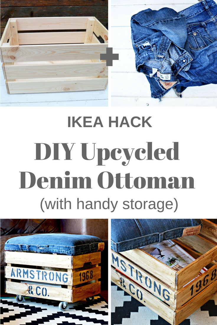 25 Personalized DIY Ottoman Using Jeans and a Wooden Crate 735x1102 simphome com