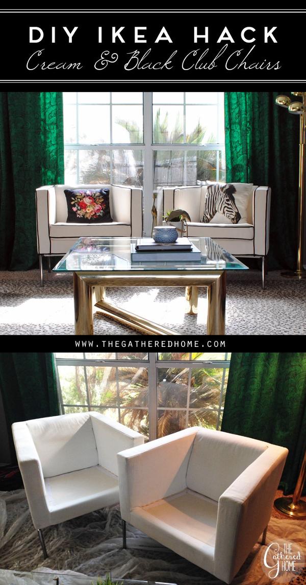 28 DIY Ikea Hack Cream and Black Club Chairs 600x1145 simphome com