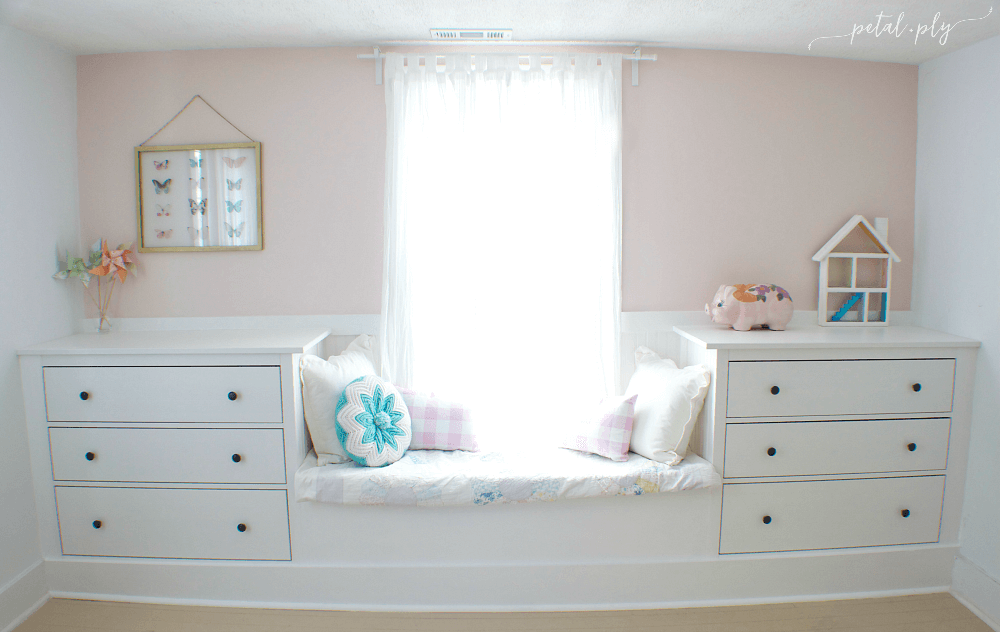 29 Double Dresser Window Seat Built In with Ikea Hemnes featured at www simphome com