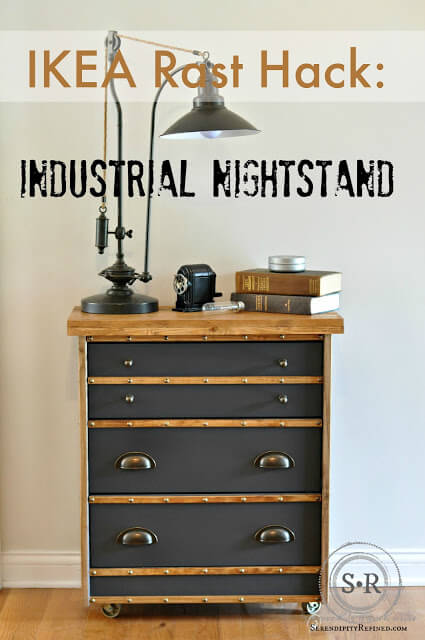 3 IKEA Rast Hack Industrial Nightstand by Serendipityrefined featured at www simphome com