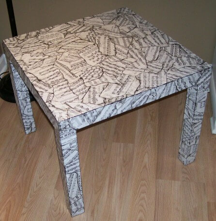 30 Sheet music table ikea makeover featured at www simphome com