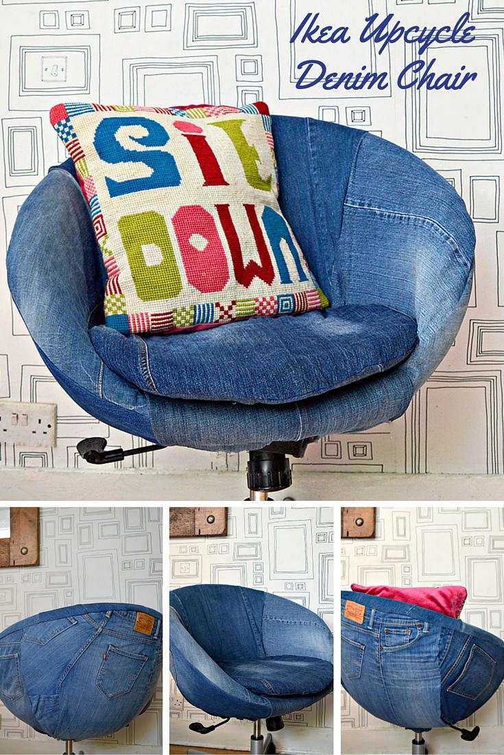 8 Ikea Hack – Skruvsta Denim Chair Upcycle simphome com