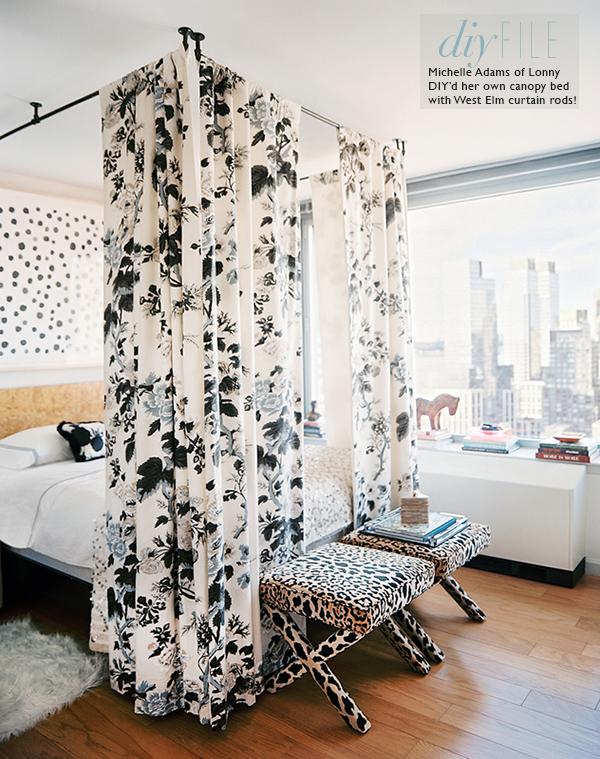 DIY canopy bed 18 Simphome com