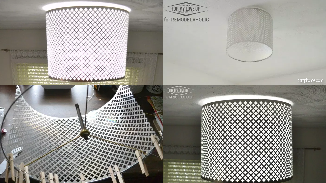 Light shade metal decoration Simphome com