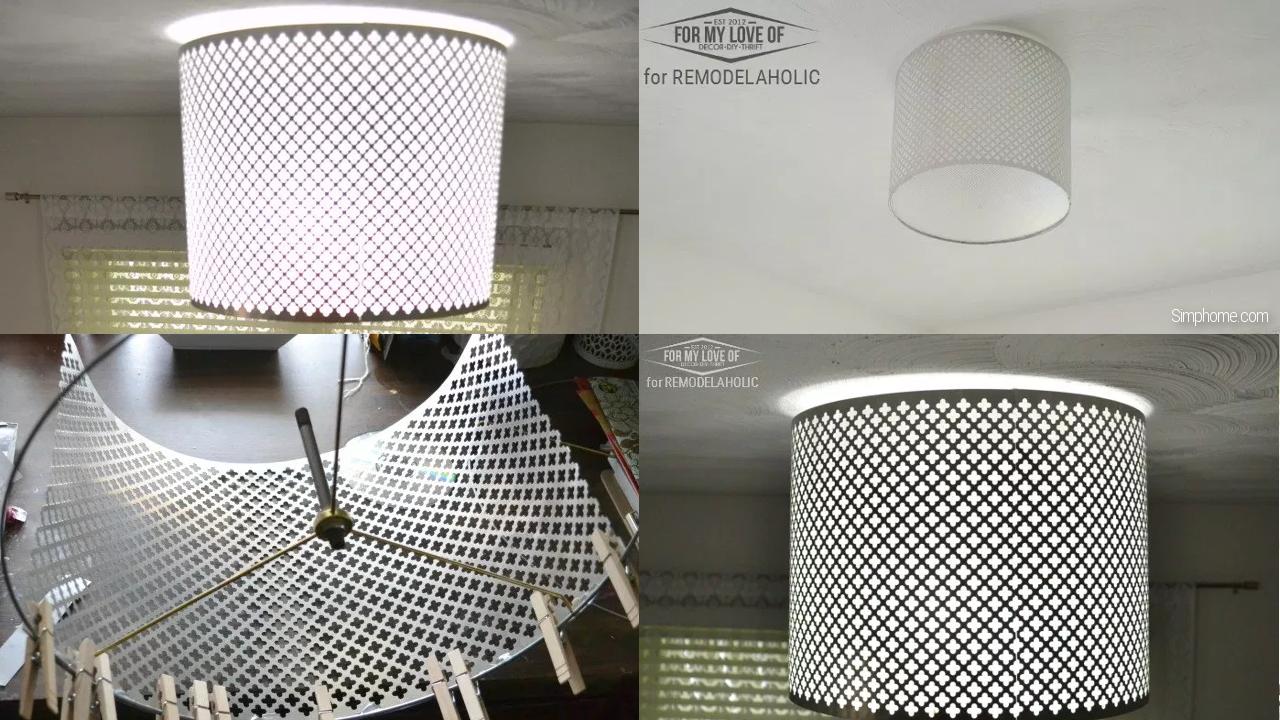 Light shade metal decoration Simphome com