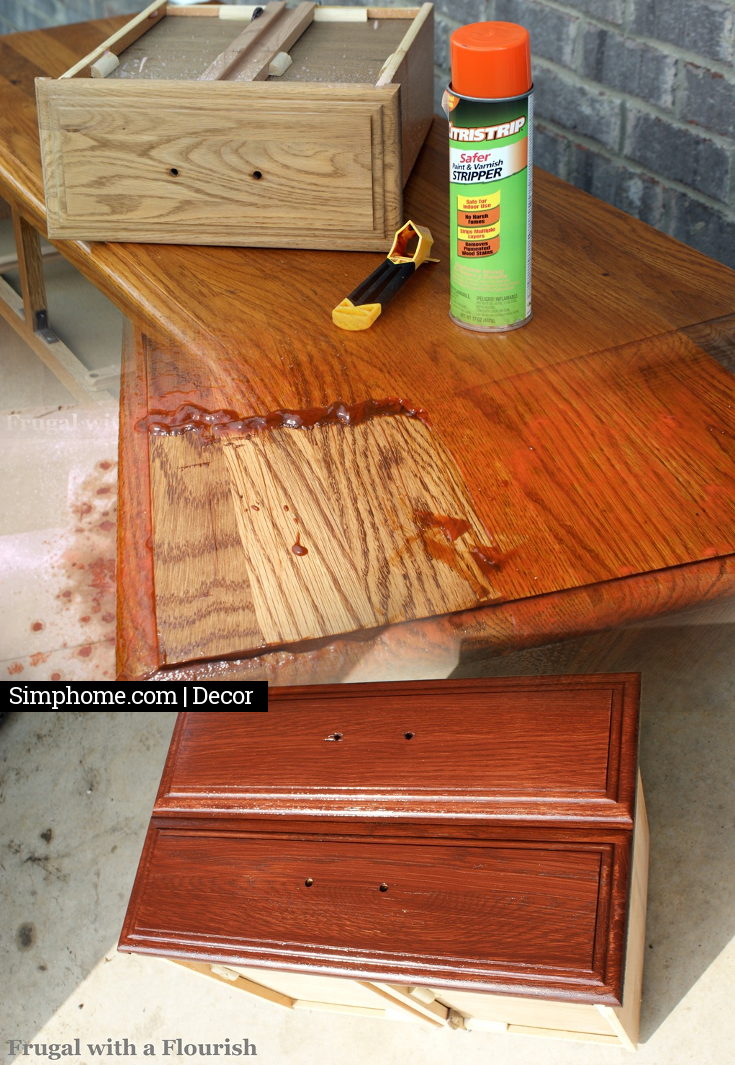 Un stain then re stain your old drawers Simphome com