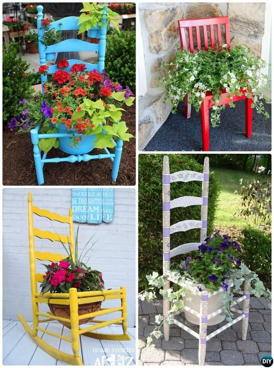 1 Chair planter and 20 ideas via simphome