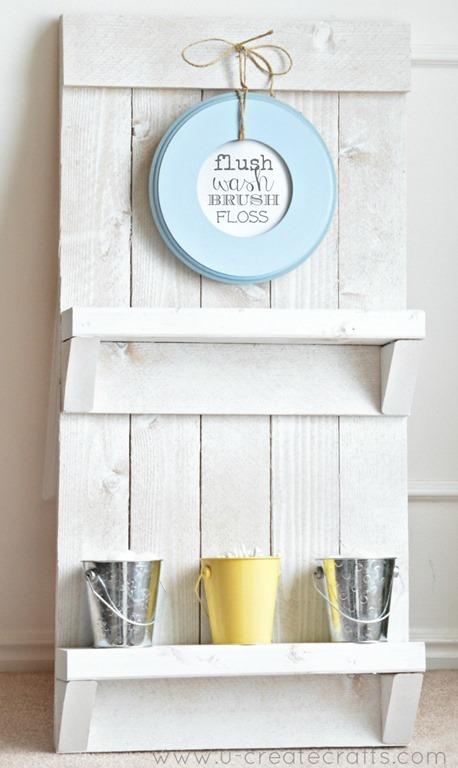 21 bathroom pallet shelf