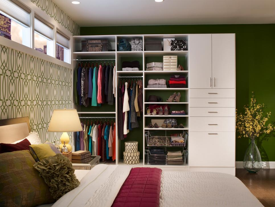 3 Keep The Clothes In An Open Shelves Via Simphome com