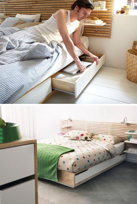 5 Stick Storage Close To The Bed Via Simphome com 2