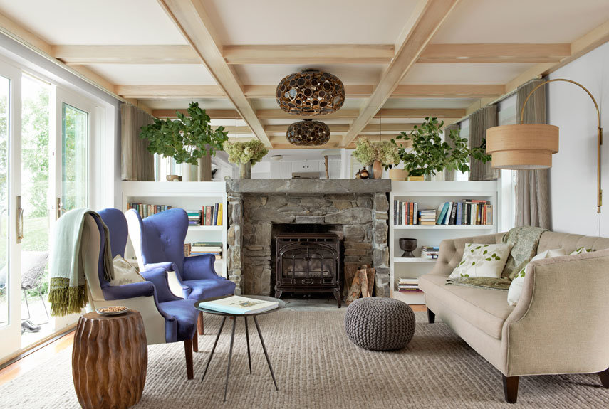 natural finished living room