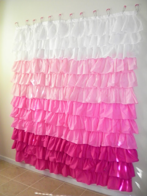 ruffled curtain